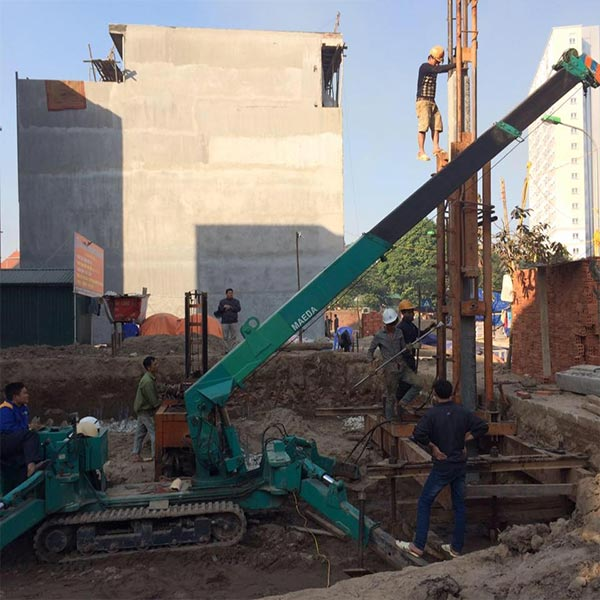 Image result for ép cọc bê tông móng nhà