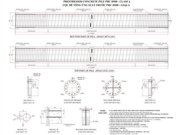 Giá cọc bê tông Ly Tâm D300 - D350 - D400